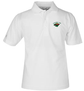 Minnesota Wild YOUTH Unisex Pique Polo Shirt (Color: White) - X-Small