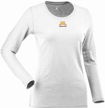 Minnesota Womens Relax Long Sleeve Tee (Color: White)