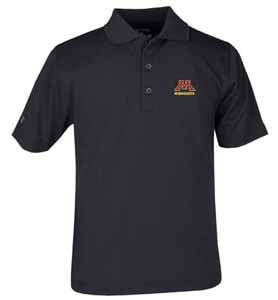Minnesota YOUTH Unisex Pique Polo Shirt (Team Color: Black) - Small