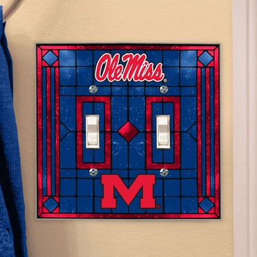 Mississippi Art Glass Lightswitch Cover (Double)