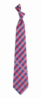 Mississippi Check Poly Necktie