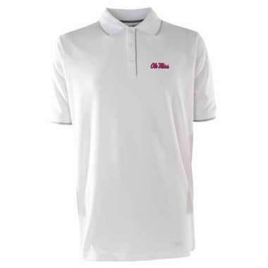 Mississippi Mens Elite Polo Shirt (Color: White)