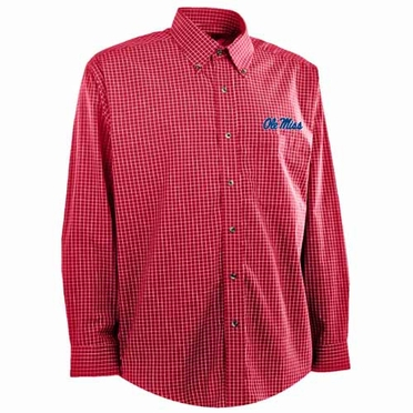 Mississippi Mens Esteem Button Down Dress Shirt (Team Color: Red)