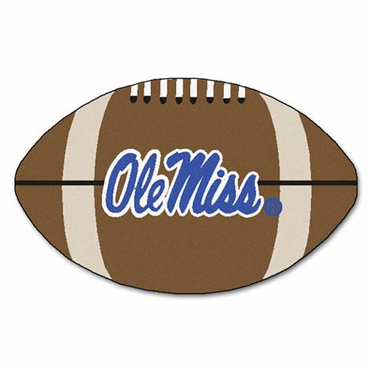 Mississippi Football Shaped Rug