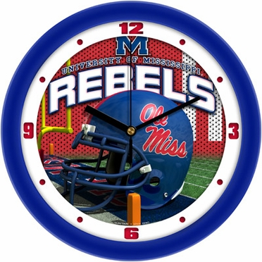 Mississippi Helmet Wall Clock