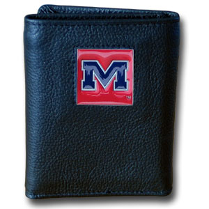 Mississippi Leather Trifold Wallet (F)