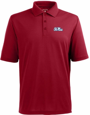 Mississippi Mens Pique Xtra Lite Polo Shirt (Team Color: Maroon)