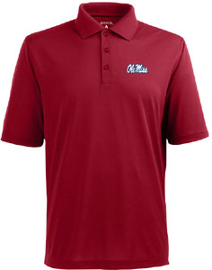 Mississippi Mens Pique Xtra Lite Polo Shirt (Color: Maroon) - Medium