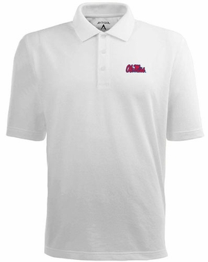 Mississippi Mens Pique Xtra Lite Polo Shirt (Color: White)