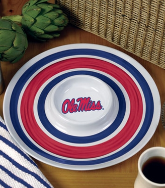 Mississippi Plastic Chip and Dip Plate