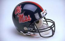 Mississippi Riddell Full Size Authentic Helmet