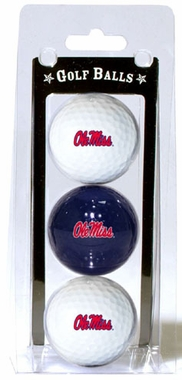 Mississippi Set of 3 Multicolor Golf Balls