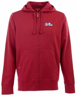 Mississippi Mens Signature Full Zip Hooded Sweatshirt (Team Color: Red)