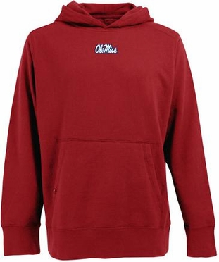 Mississippi Mens Signature Hooded Sweatshirt (Team Color: Red)