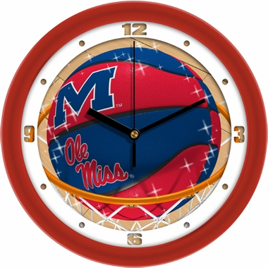 Mississippi Slam Dunk Wall Clock