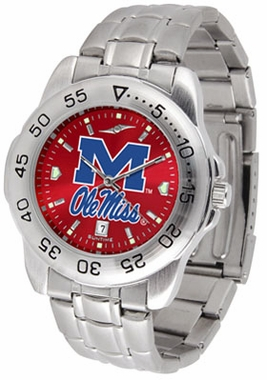 Mississippi Sport Anonized Men's Steel Band Watch
