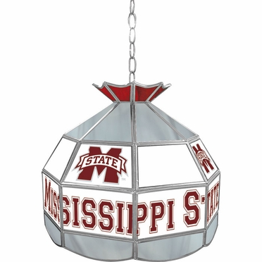 Mississippi State 16 Inch Diameter Stained Glass Pub Light