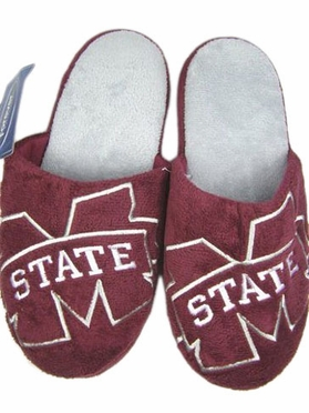 Mississippi State 2011 Big Logo Hard Sole Slippers (Two Tone)