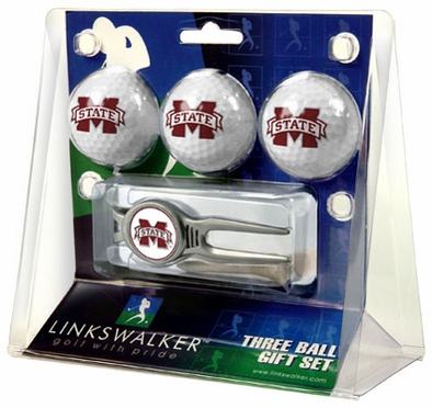 Mississippi State 3 Ball Gift Pack With Kool Tool