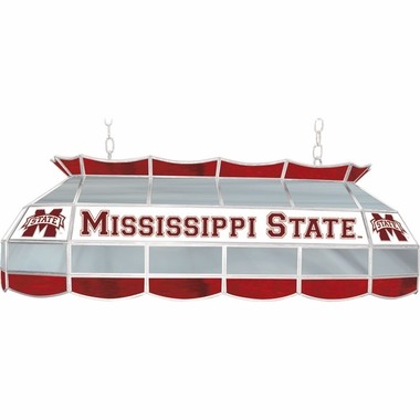 Mississippi State 40 Inch Rectangular Stained Glass Billiard Light