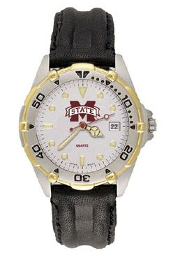 Mississippi State All Star Mens (Leather Band) Watch