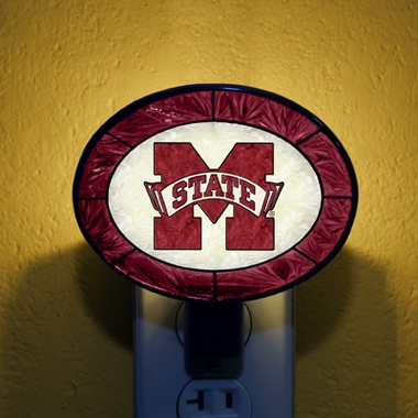 Mississippi State Art Glass Night Light