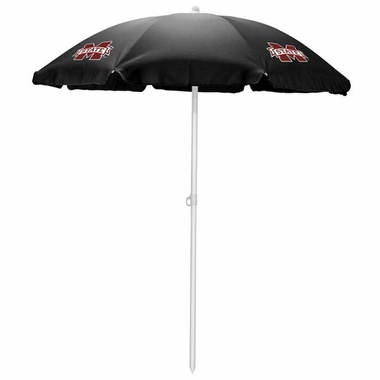 Mississippi State Beach Umbrella (Black)