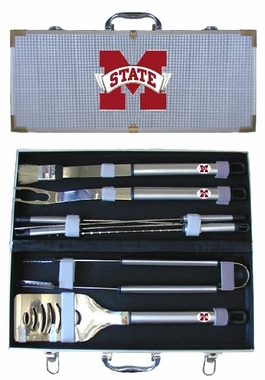 Mississippi State Bulldogs 8pc. BBQ Set w/Case