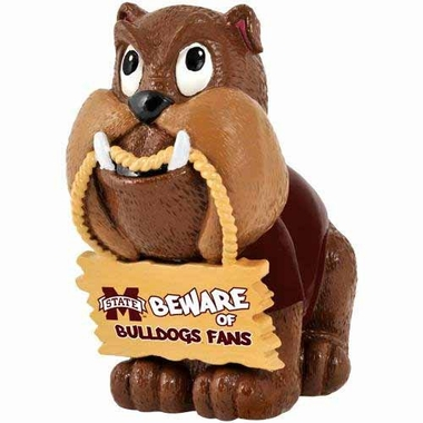 Mississippi State Bulldogs Bulldog Holding Sign Figurine