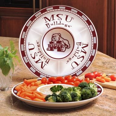 Mississippi State Ceramic Chip and Dip Plate