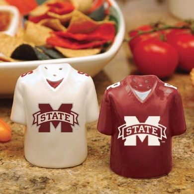 Mississippi State Ceramic Jersey Salt and Pepper Shakers