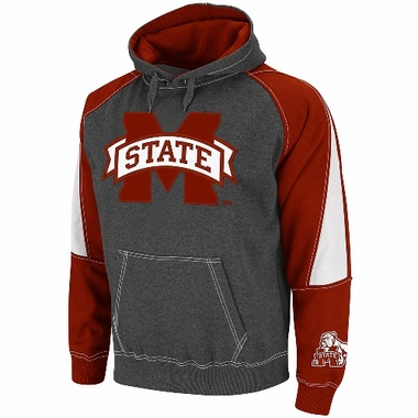 Mississippi State Charcoal Playmaker Hooded Sweatshirt