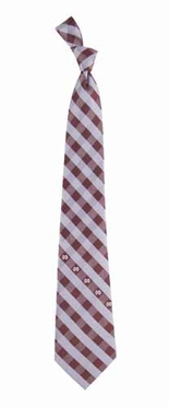 Mississippi State Check Poly Necktie