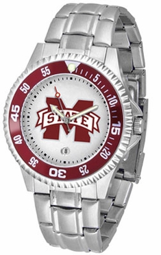 Mississippi State Competitor Men's Steel Band Watch