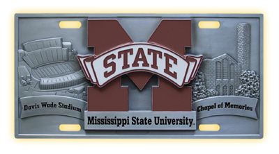 Mississippi State Deluxe Collector's License Plate
