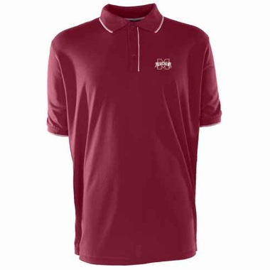 Mississippi State Mens Elite Polo Shirt (Team Color: Maroon)