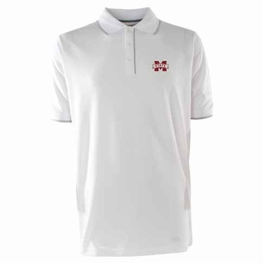 Mississippi State Mens Elite Polo Shirt (Color: White)