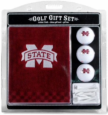 Mississippi State Embroidered Towel Gift Set