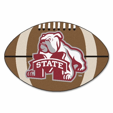 Mississippi State Football Shaped Rug