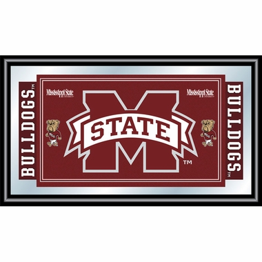 Mississippi State Framed Logo Mascot Bar Mirror