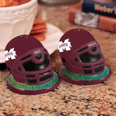 Mississippi State Helmet Ceramic Salt and Pepper Shakers