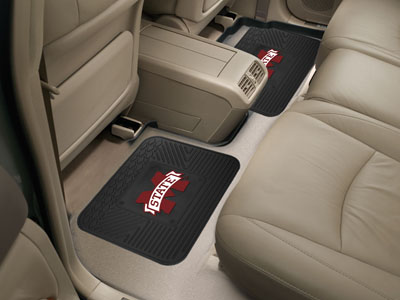 Mississippi State SET OF 2 Heavy Duty Vinyl Rear Car Mats
