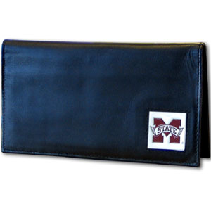 Mississippi State Leather Checkbook Cover (F)