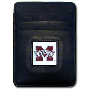 Mississippi State Leather Money Clip (F)
