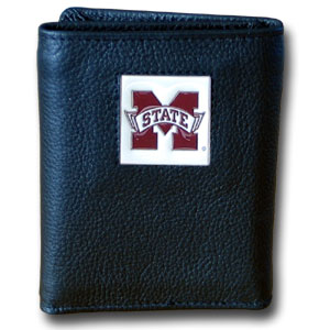 Mississippi State Leather Trifold Wallet (F)