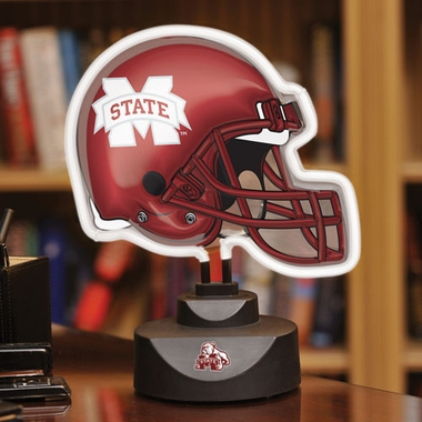 Mississippi State Neon Display Helmet
