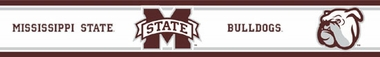 Mississippi State Peel and Stick Wallpaper Border