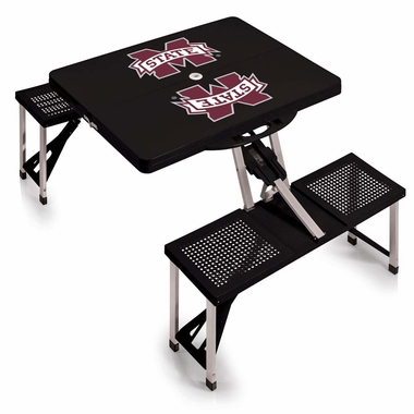Mississippi State Picnic Table (Black)