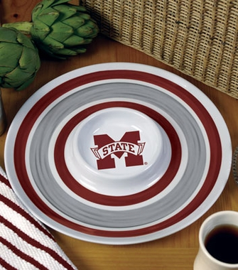 Mississippi State Plastic Chip and Dip Plate