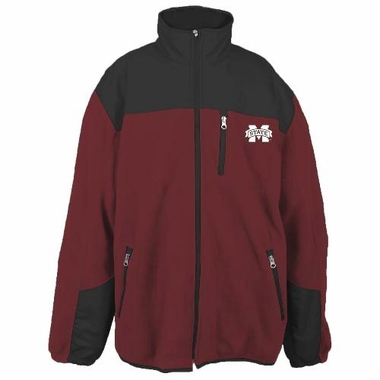 Mississippi State Poly Dobby Full Zip Polar Fleece Jacket